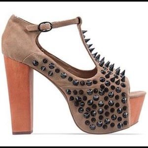 Jeffrey Campbell Foxy Front Spike Platforms.
